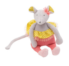 Moulin Roty Mademoiselle Mouse Rattle  Mademoiselle et Ribambelle collection