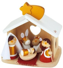 Sevi wooden toy - Christmas Decorations - Compact Nativity Scene
