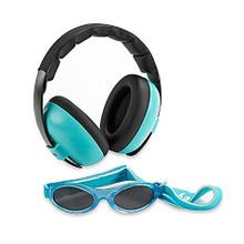 Baby Banz Earmuffs Limited Edition Hearing infant Protection + Sunglasses Aqua