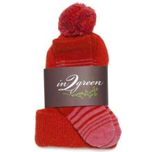Eco Baby Hat & Sock Set Spice /Princess