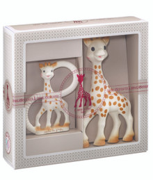 Sophie the Giraffe Sophiesticated Birth Set the set + a bag + a gift card