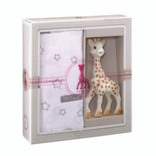 """Sophie the Giraffe Teether and Swaddle Birth Set medium """"Sophiesticated """""""