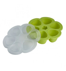 Beaba Multiportions™ 3oz Silicone Tray - Neon