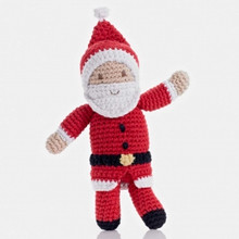 Pebble Santa Baby Rattle