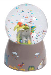 Moulin Roty Les Papoum Musical Snow Globe