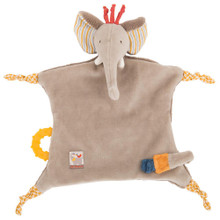 Moulin Roty Elephant Pacifier lovey Les Papoum