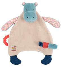 Moulin Roty Hippo pacifier lovey Les Papoum