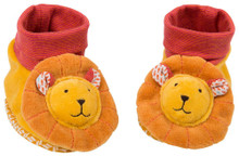 Moulin Roty Les Papoum Baby slippers Lion