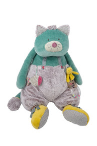 Moulin Roty Les Pachat Blue activity cat