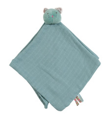 Moulin Roty Blue Muslin Lovey - Cha Cha