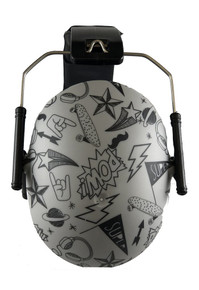 KIDS HEARING PROTECTION EARMUFFS GRAFFITI DOODLE