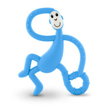 Matchstick Monkey Light Blue Dancing Monkey Teether