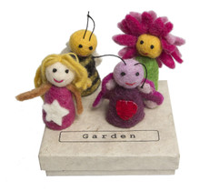 Papoose Finger Puppets Garden Boxed Set