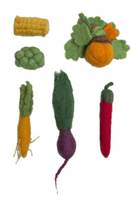 Papoose Mini Felt Vegetable Boxed Set