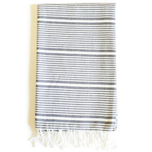 Zestt  Anjuna Organic Cotton Fouta Bath Towel - Charcoal