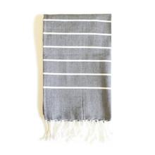 Zestt Bondi Organic Cotton Fouta Hand Towel - Charcoal