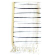 Zestt Margoa Organic Cotton Fouta Bath Towel - Charcoal