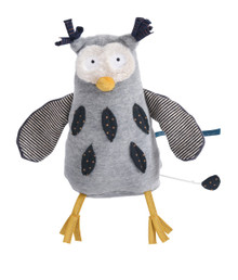 Moulin Roty Musical Soft Toy Mister Owl Les Moustaches