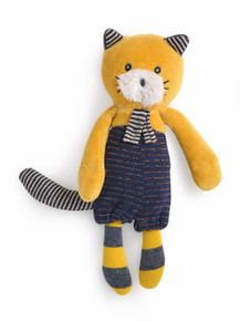 Moulin Roty Small Soft Toy Lulu the yellow cat Les Moustaches