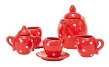 Moulin Roty Red Ceramic Tea Set