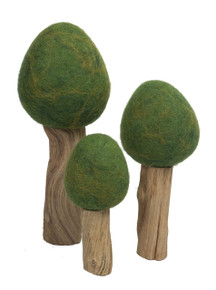 Papoose Summer Trees, a 3 Piece Set