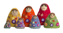 Papoose Rainbow Stackable Felt Babushkas