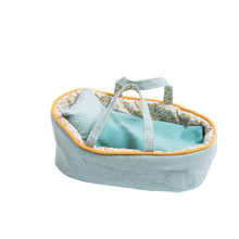 Moulin Roty 'Famille Mirabelle' Small Blue Moses Bed