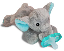 Razbaby RaZbuddy Paci Holder - JollyPop Pacifier - Elfy Elephant