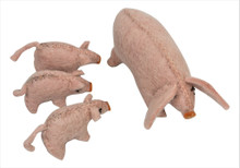 Papoose Felt Animals - Pig Mama and 3 Babies
