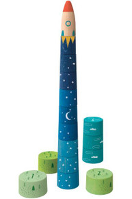 LONDJI Wooden Toys - Up to the Stars Stacking Game - (16 pcs)