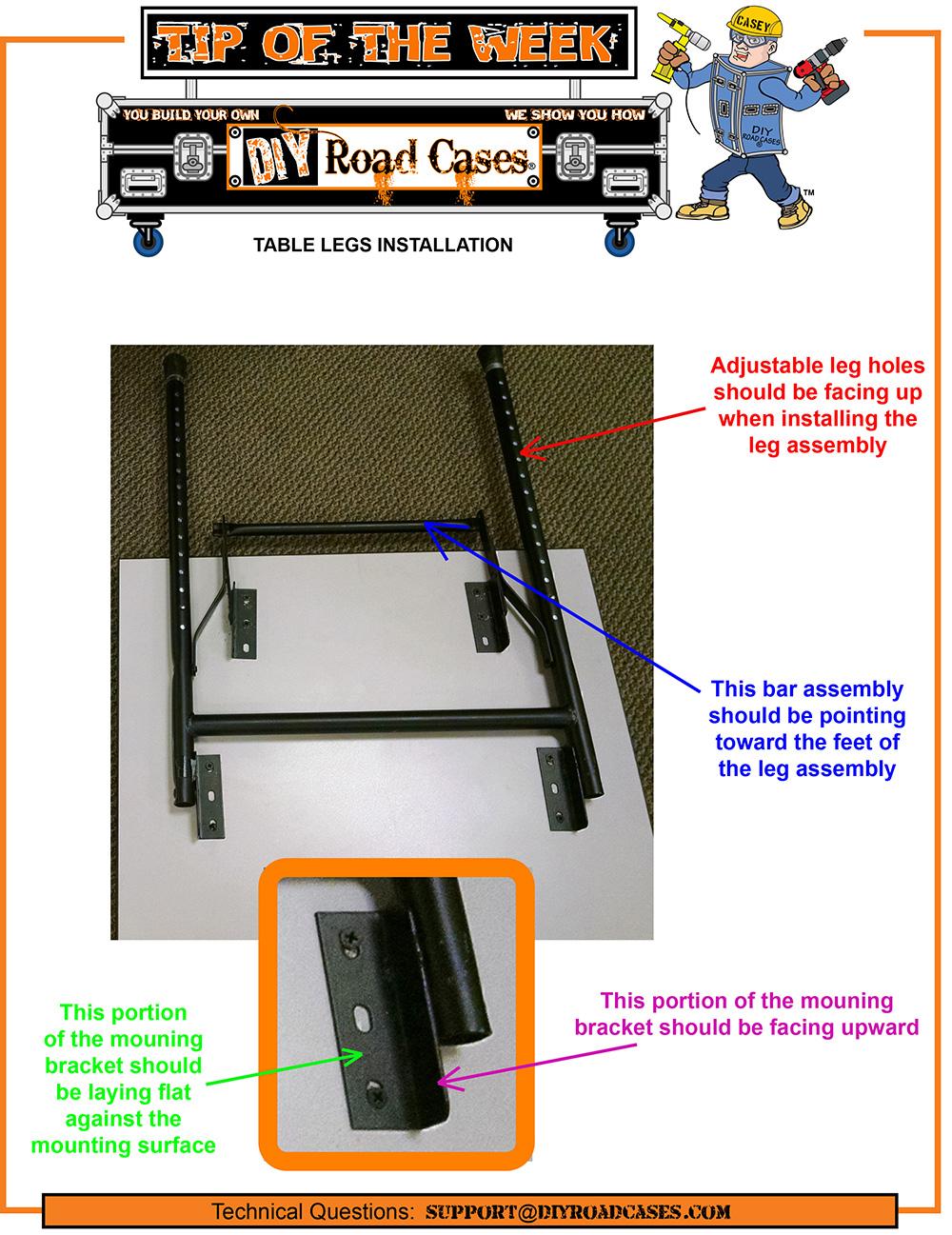 Table Leg Assembly    Folding    Narrow Base