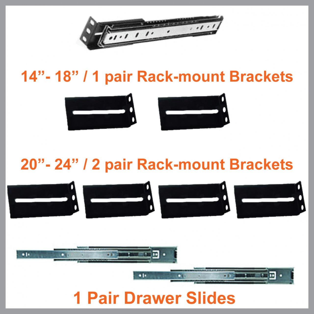 rack mount drawer slide kit diy road cases store. Black Bedroom Furniture Sets. Home Design Ideas