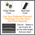 Heavy Duty DJ Laptop Deck Slide Kit 2
