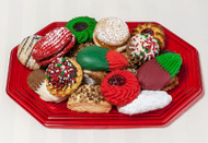 1 pound Holiday Cookie Tray (Red) - This tray includes 1 pound of our most popular holiday cookie assortment. Price per 1 pound tray.