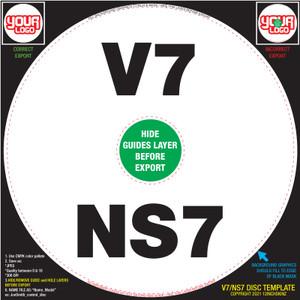 Control Disc OEM (SINGLE) for V7 / NS7 / NS7ii / NS7iii - CUSTOM