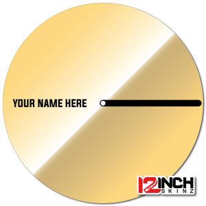 "Phase Control Disc w/ Tab (SINGLE) - Name Cue Metallic 12"""