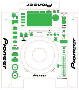 Pioneer CDJ2000 Skinz (PAIR)- CUSTOM