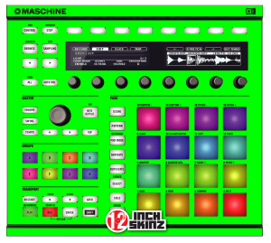 Native Instuments Maschine MK2 Skinz - Fluorescent UV