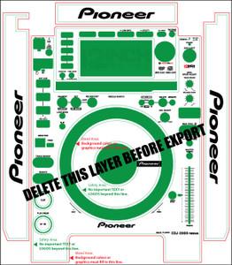 Pioneer CDJ-2000nexus Skinz (PAIR) - CUSTOM