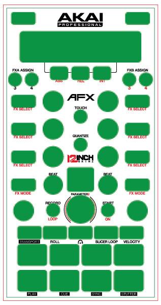 Akai afx skinz custom 12inchskinz for Afx templates