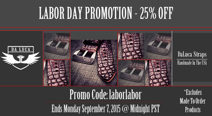 DaLuca Labor Day Promotion 2015