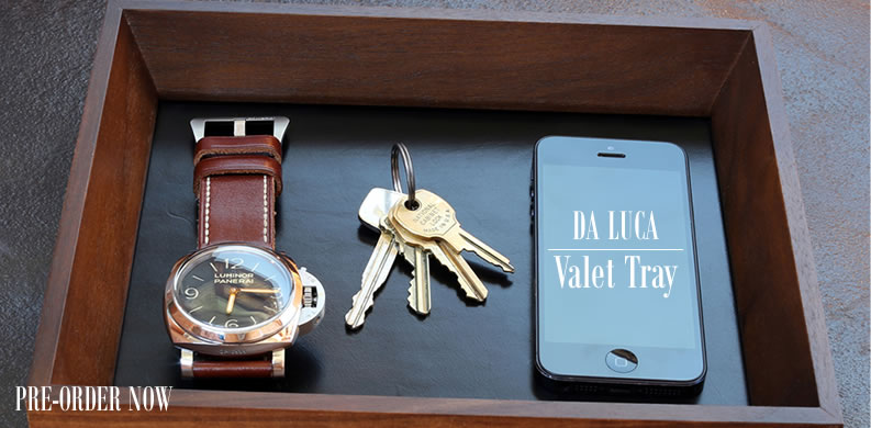 DaLuca Walnut Valet Tray