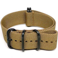 Ballistic Nylon Military Watch Strap - Sand (PVD Buckle)