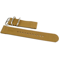 Two Piece Ballistic Nylon Watch Strap - Sand