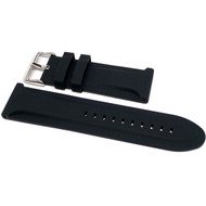 26mm Black Silicon Watch Strap