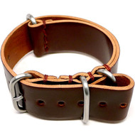 Shell Cordovan Military Watch Strap - Color 4 (Matte Buckle)