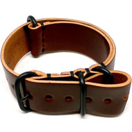 Shell Cordovan Military Watch Strap - Color 4 (PVD Buckle)