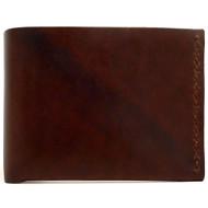 DA LUCA Handmade Bi Fold Wallet - Brown Chromexcel