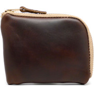 Leather Zip Wallet - Brown Chromexcel (Khaki Zipper)