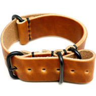 Military Leather Watch Strap - Natural Dublin (PVD Buckle)